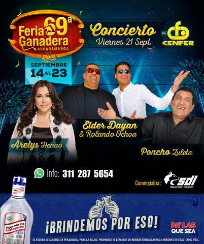 Feria Ganadera 2018: Arelys Henao, Elder Dayan & Rolando Ochoa y Poncho Zuleta