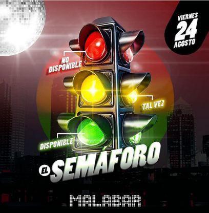 El semáforo en Malabar