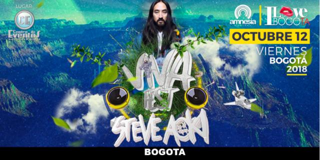 Viva Fest con Steve Aoki en Bogotá