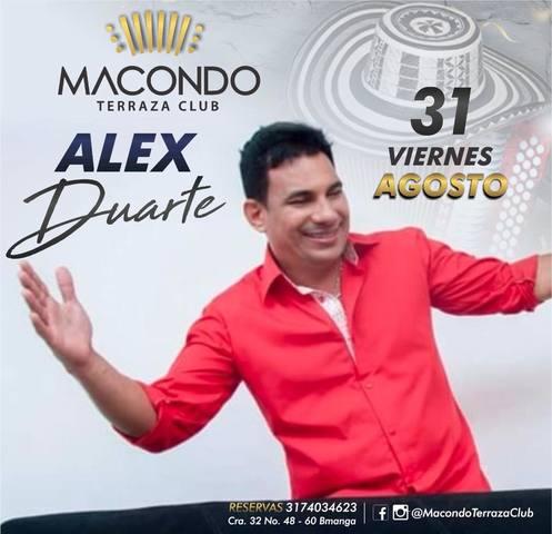 Alex Duarte en Macondo