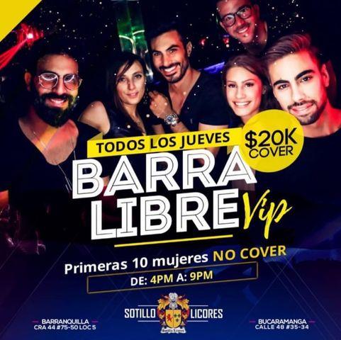Barra Libre VIP en Sotillo Licores.