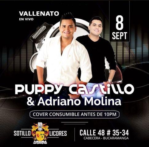 Puppy Castillo y Adriano Molina en vivo.