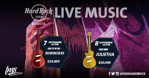 Live Music en Hard Rock - Bogotá.