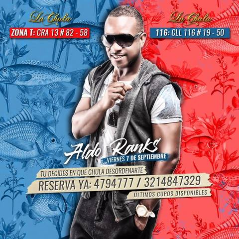 Fiesta Retro Con Aldo Ranks