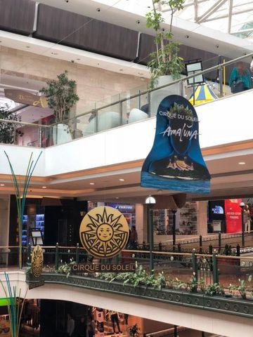 Amaluna en el Centro Comercial Andino.