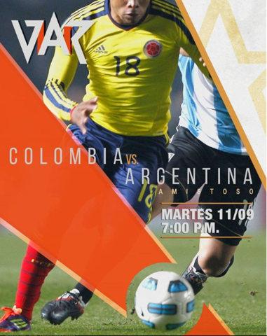 Amistoso Colombia Vs Argentina en Var.