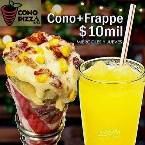 Promo Cono Pizza + Frappe