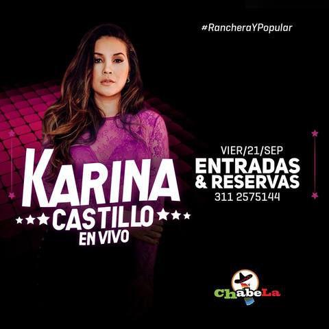 Karina Castillo en vivo