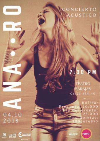 Show acústico de Ana Ro.