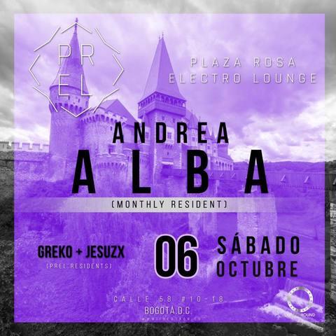 MONTHLY RESIDENT: ANDREA ALBA.