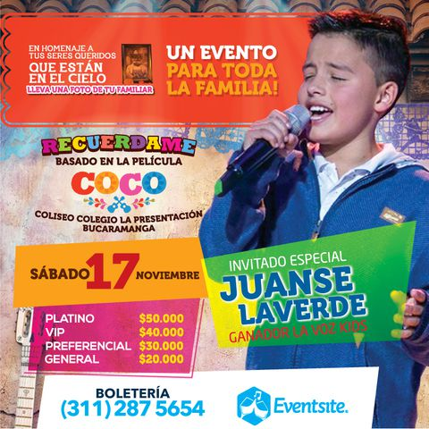 Concierto de Juanse y Show musical de Coco