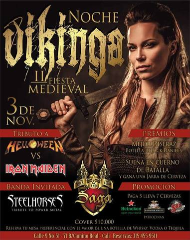 Noche Vikinga en Saga Bar