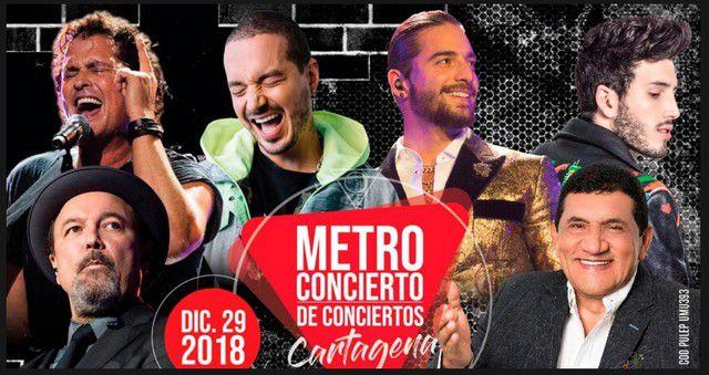 Metro Concierto de Cartagena 2018