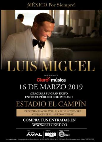 Luis Miguel en Bogotá
