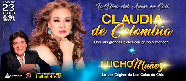Claudia de Colombia en concierto