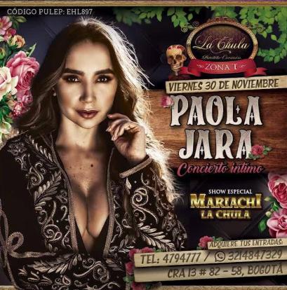 Paola Jara, concierto intimo.