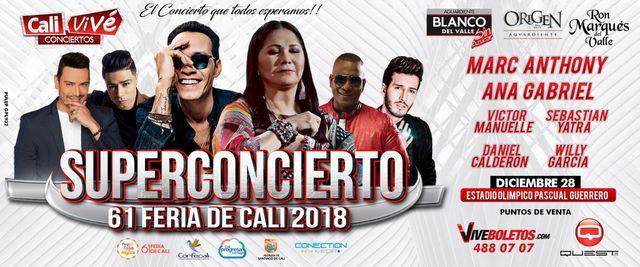 Super Concierto Feria De Cali 2018