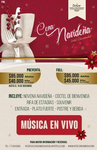 Cena Navideña Hotel Chicamocha