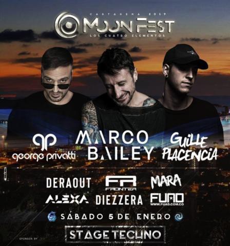 MoonFest 2019 Cartagena 5 y 6 de enero
