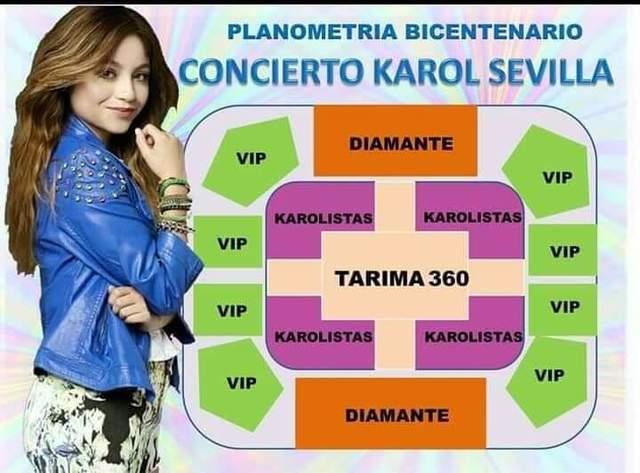 Karol Sevilla en concierto