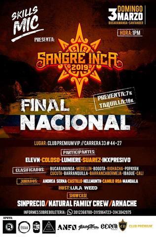 Final Nacional Sangre INCA