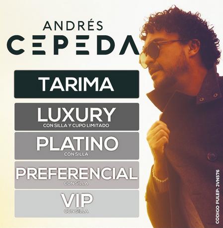Andrés Cepeda, concierto en Bucaramanga