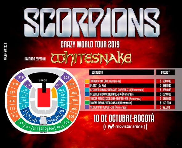 Scorpions y Whitesnake en Bogotá