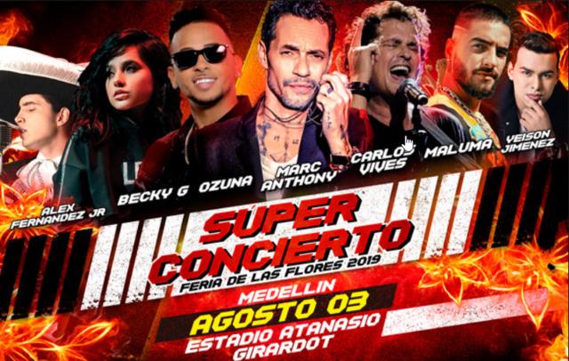 Super concierto Feria de las flores 2019