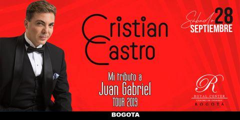 Cristian Castro llegá a Bogotá con 'Mi Tributo a Juan Gabriel'