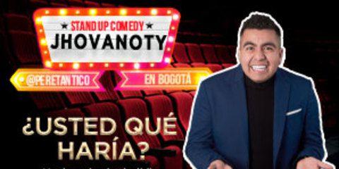 Jhovanoty y su Stand Up Comedy en Bogotá