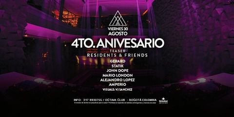 Teaser 4to. Aniversario at Octava