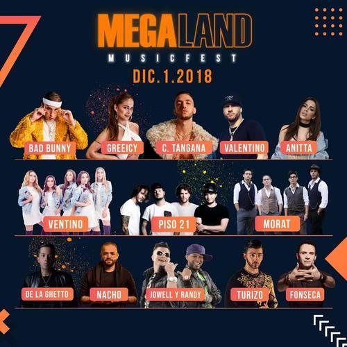 Artistas Megaland 2018