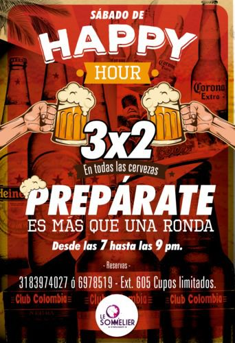 Happy hour 3x2 sarbado 7a9 %282%29